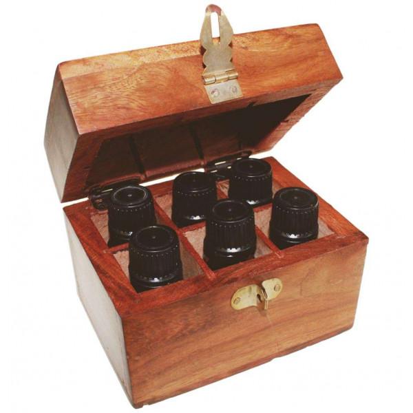 coffret de rangement pour 6 huiles essentielles en bois de. Black Bedroom Furniture Sets. Home Design Ideas