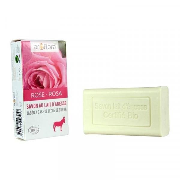 Savon au lait d'annesse, Rose Bio certifiée ecocert