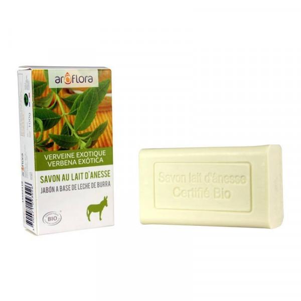 Savon au lait d'anesse parfumé aux huiles essentielles de verveine exotique Bio ecocert