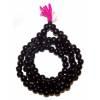 Authentique Mala tibétain 108 perles de bois foncé ébène 8 mm très haut de gamme