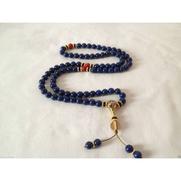 Mala 108 perles Lapis Lazuli diam 1 cm . Qté limitée. Superbe