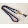 Art Unique ! Mala véritable Lapis lazuli 108 perles diam 1 cm. Pièce Unique !