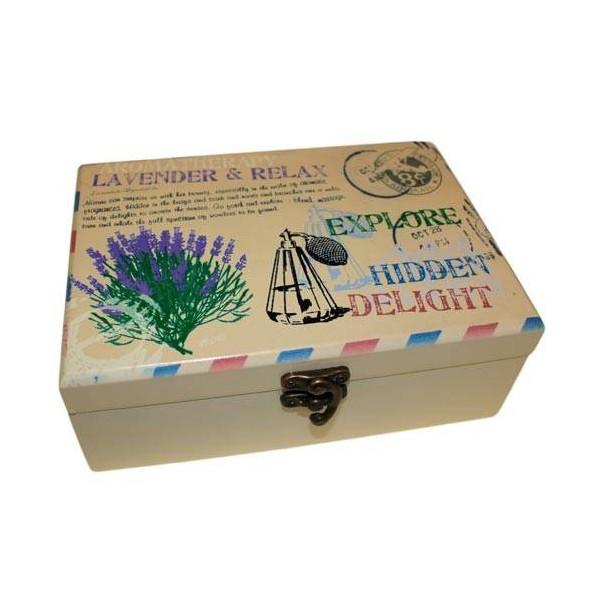 Coffret aromathérapie pour 24 flacons d'huiles essentielles 7 cm max