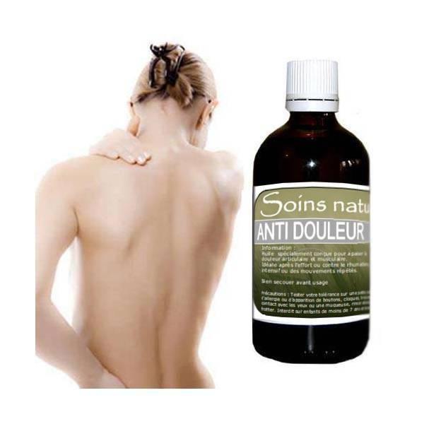 Soin anti douleur à base d'arnica et d'huiles essentielles 100 ml