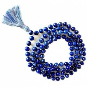 Art. Mala tibétain mala Véritable Lapis lazuli 8 mm 108 perles