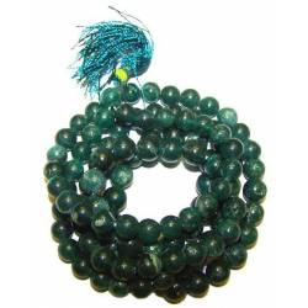Art. Mala tibétain 108 perles de jade véritable 6 à 7 mm