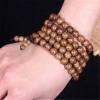 Art. Mala tibétain 108 perles de bois fin décoré 7 mm