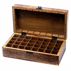 Rangement - Coffret pour 32 flacons d'huiles essentielles 6,5 cm max bois de Manguiers