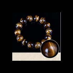 Art bracelet tibétain 108 perles Oeil de tigre véritable