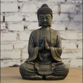 Fontaine XL Bouddha 33 cm avec boule en verre