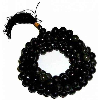 Art. Mala tibétain en agate noir 108 perles