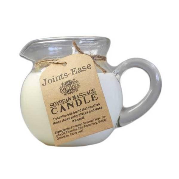 """Bougie de massage """"tonique"""" à la cire de soja tiède et pot verseur en verre"""