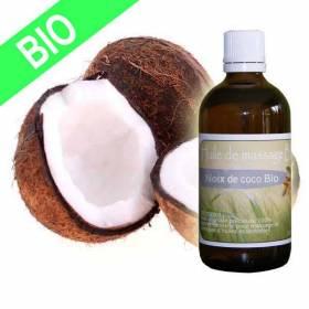 Huile de massage noix de coco BIO 100 ml Ultra pure haut de gamme