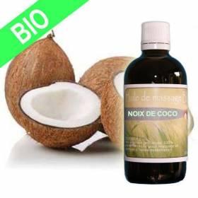 Huile végétale de noix de coco BIO 10 ml
