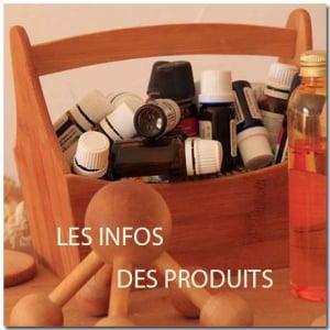 Les informations sur les huiles essentielles et autres produits de la boutique.